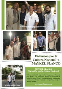 Distinción por la Cultura Nacional a Maykel Blanco en Cuba